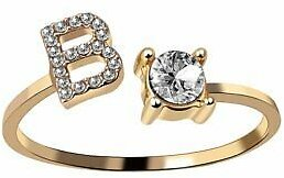 Letter B Gold Ring Women Knuckle Ring Finger Adjustable Fashion Jewelry HOT NEW
