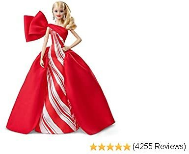 2019 Holiday Barbie Doll, 11.5-Inch, Blonde