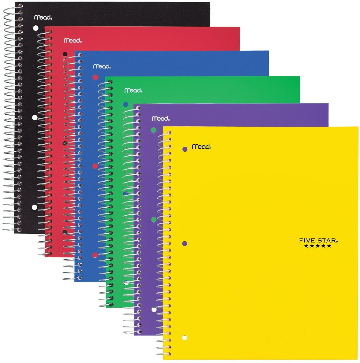 Five Star 3 Subject Wide Ruled Wirebound Notebook