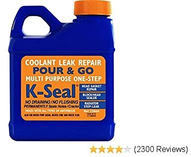 K-SEAL Coolant Leak Repair, 8oz, Stops Leaks in The Radiator, For Head Gasket (Just Pour and Go)