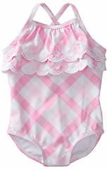 70% Off Crown & Ivy™ Baby Girls Gingham One Piece Swimsuit