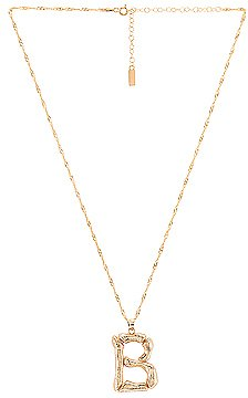 Natalie B Jewelry Initial B Necklace in Gold | REVOLVE