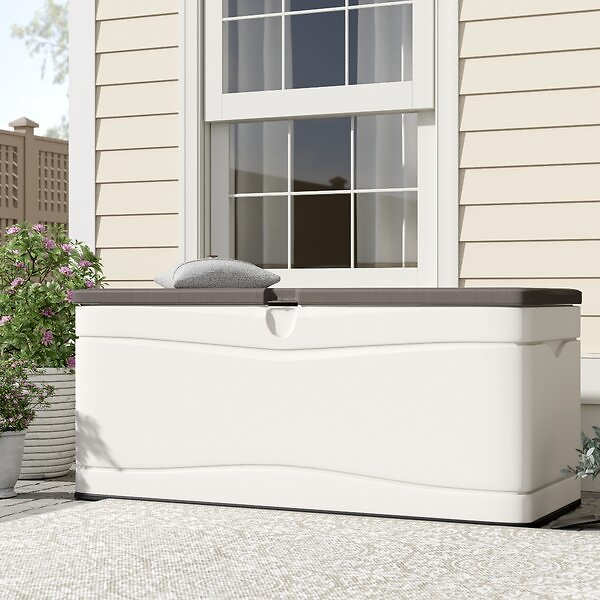 130 Gallon Plastic Storage Bench