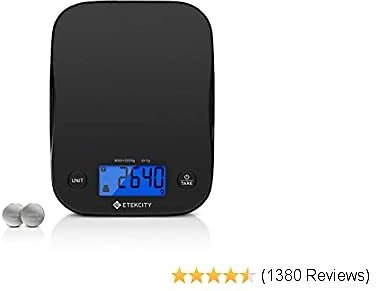 Etekcity Food Kitchen Scale, Digital Weight Grams and Oz for Baking and Cooking, 1g Division, Black