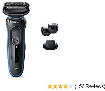 Braun Electric Razor for Men, Series 5 5020s Electric Shaver with Beard Trimmer, Rechargeable 2020