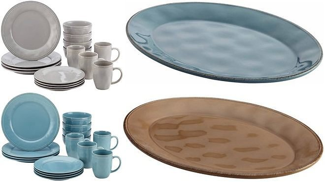Rachael Ray 32-Piece Dinnerware Set Bundle & Oval Platter JUST $74.94 + FREE Shipping