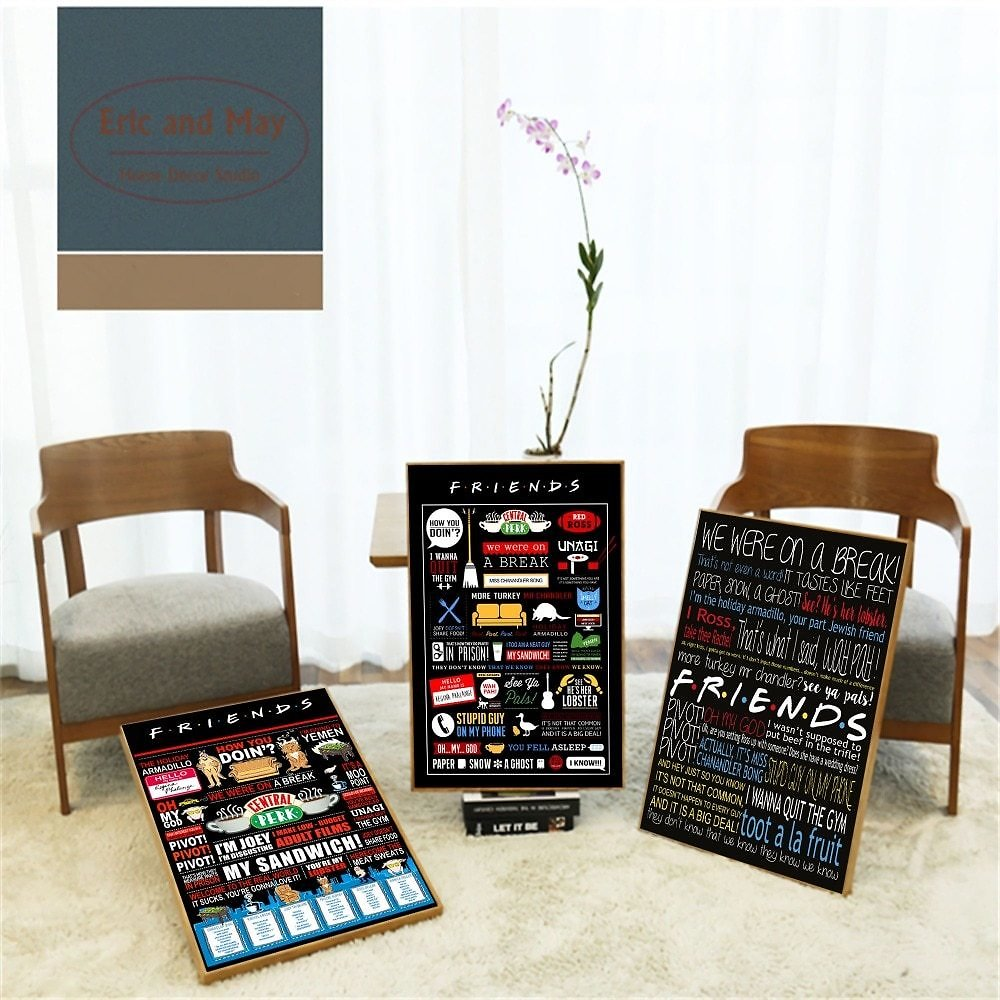 US $3.16 56% OFF|Friends TV Show Classic Quote Posters and Prints Wall Art Decorative Picture Canvas Painting For Living Room Home Decor Unframed|Painting & Calligraphy| - AliExpress