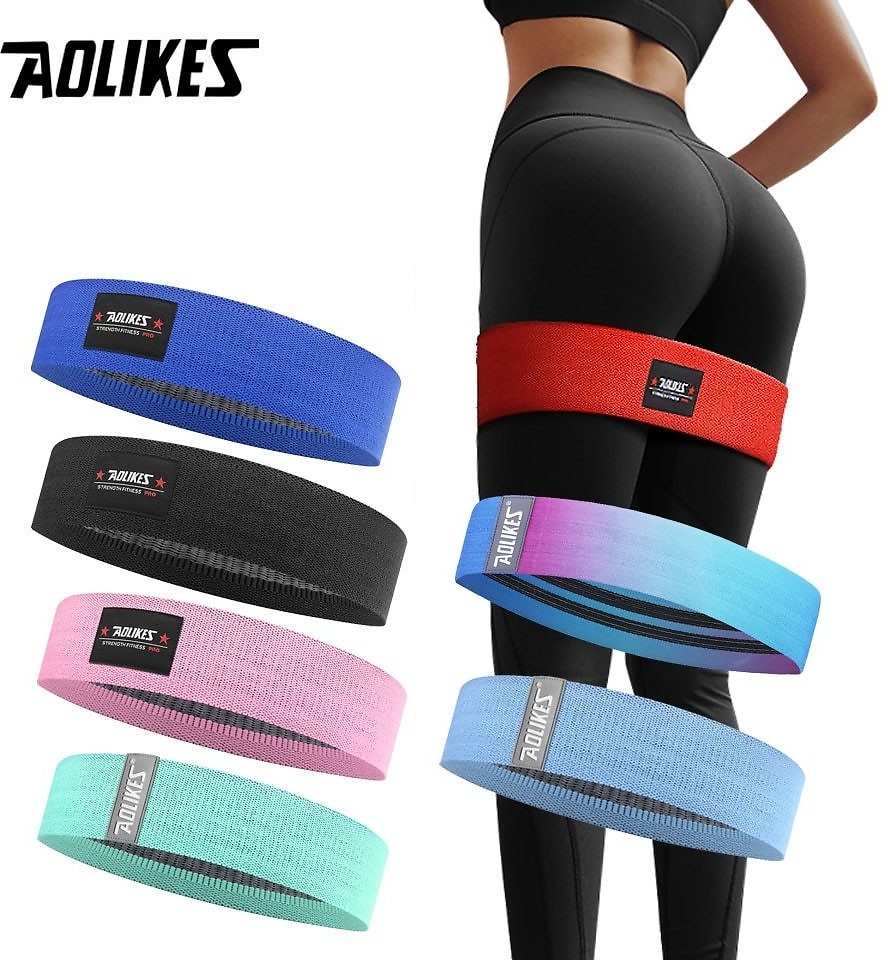US $4.55 36% OFF|AOLIKES Unisex Booty Band Hip Circle Loop Resistance Band Workout Exercise for Legs Thigh Glute Butt Squat Bands Non Slip Design|Resistance Bands| - AliExpress