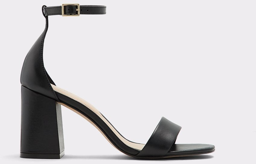 Eteisa Black Leather Smooth Women's Sandals | ALDO US