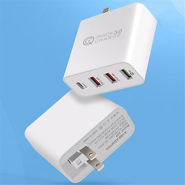 Bakeey 4 Ports USB Charger QC3.0 USB Type-C Wall
