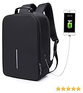 BAIGIO Backpack for Men Anti-Theft Travel Backapck 15.6-Inch Business Laptop Backpack with USB Charging Port, Black