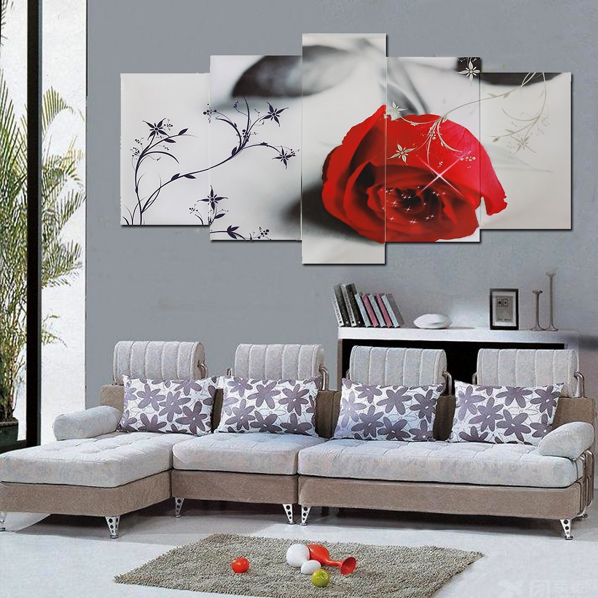 Unframed-Living-Room-Adornment-Picture-Red-Tree-Canvas-Print-Home-Wall-Decor-2-art-x-60cm-30cm-2-x-50