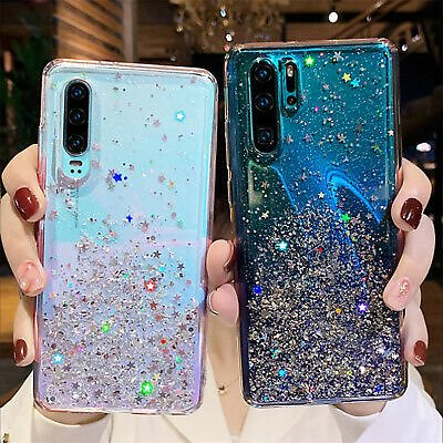 For Huawei P30 Pro Lite P Smart Z Glitter Crystal Clear Silicone Soft Case Cover