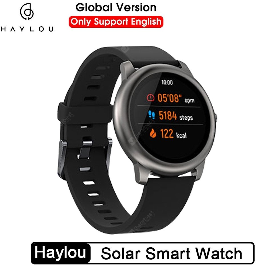 Haylou Solar Smart Watch LS05 Global Version Sport Fitness Sleep Heart Rate Monitoring Bluetooth Waterproof Watch Sale, Price & Reviews | Gearbest