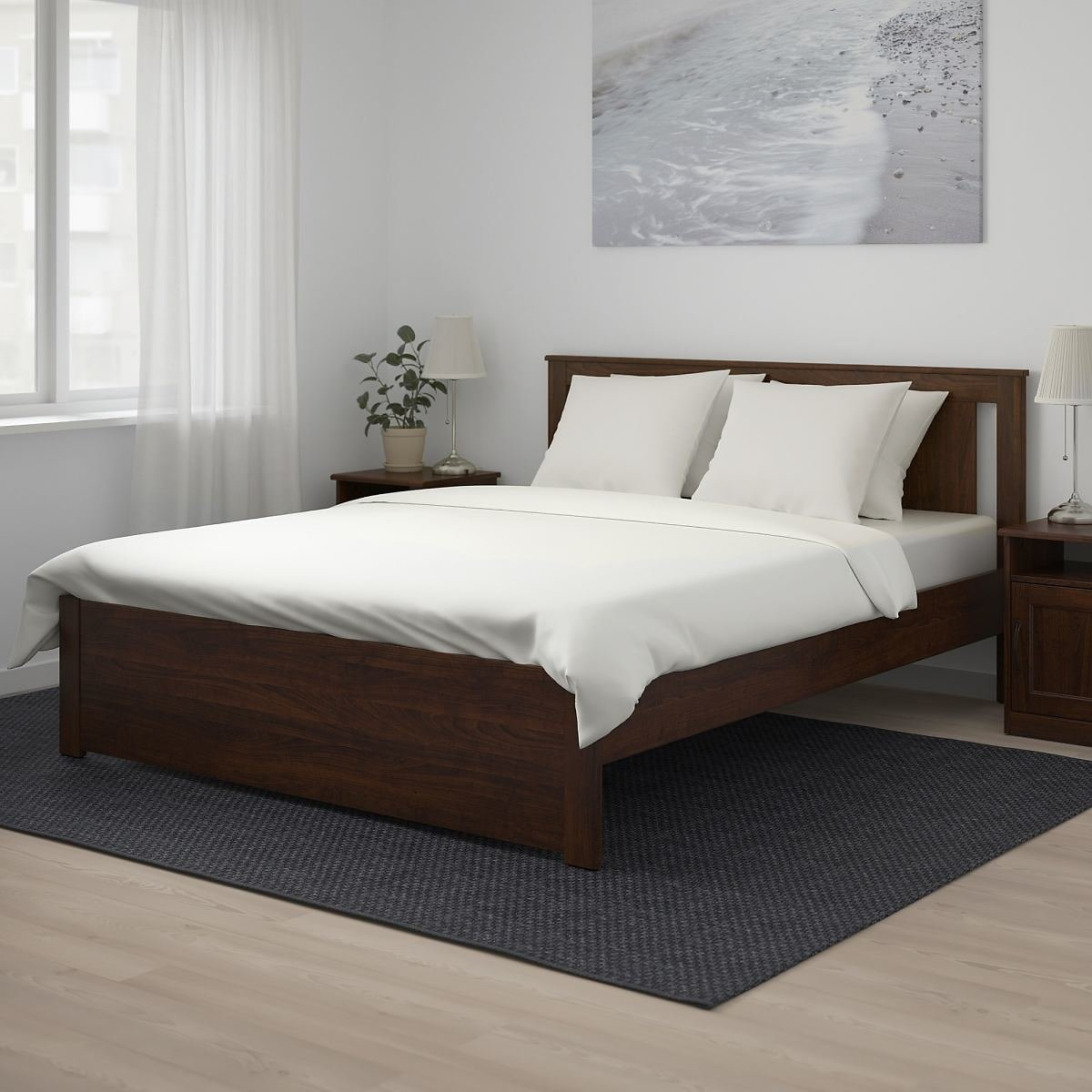 SONGESAND Bed Frame, LuröyQueen (2 Colors)