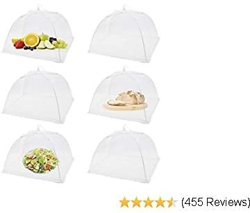 6 Pack Pop-Up Picnic Mesh Food Covers