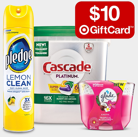Free $10 Gift Card w/ $40 Household Essentials