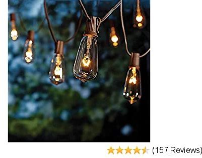 20Ft Edison String Lights with 22 Glass Clear Edison Bulbs