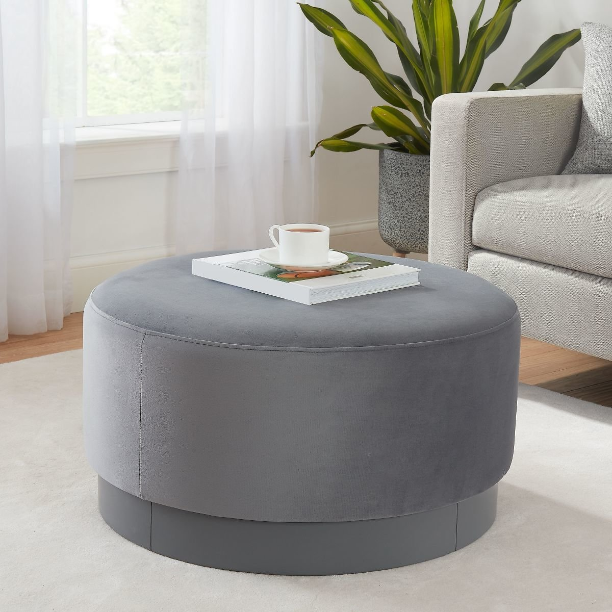 Better Homes & Gardens Addison Large Round Ottoman, Multiple Colors