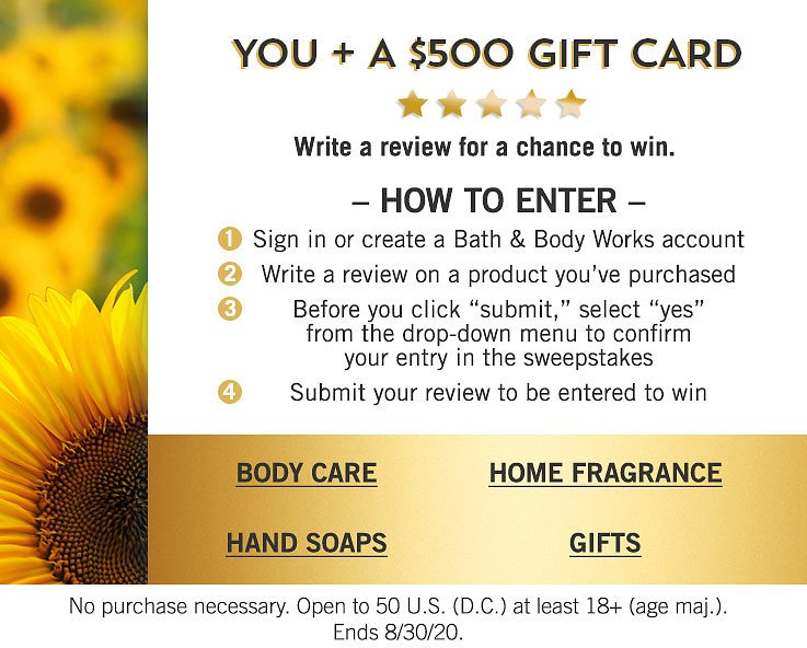 You+A $500 GIFT CARD