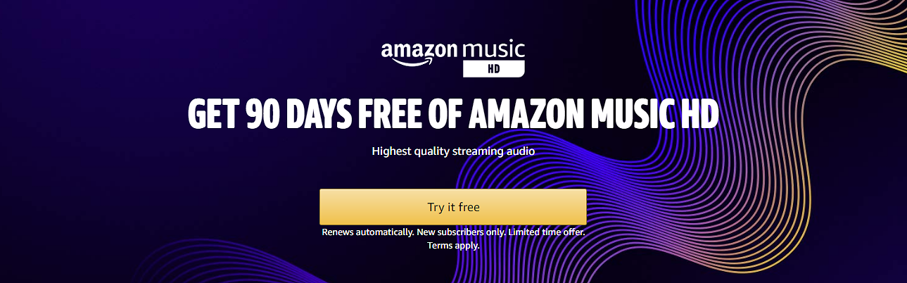 Amazon Music HD 90-Day Trial