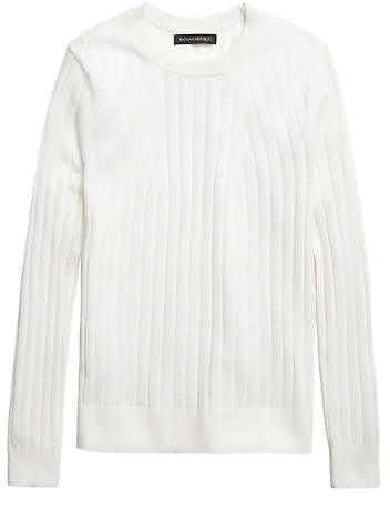 Washable Merino Ribbed Sweater | Banana Republic