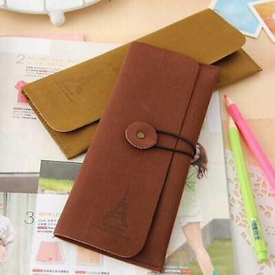 Cute Straps Matte Suede Leather Stationery Bag Cosmetic Pouch Pencil Case Bag.