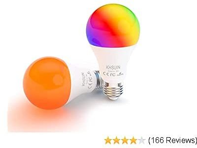LED Alexa Light Bulbs with RGB Color Changing 2 Pack