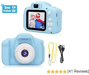 IEBRT Kids Digital Camera, 1080P 2 Inch FHD Digital Video Recorder Shockproof Sports Camera 3-12 Years Old Boy and Girl Birthday Toy Gift.