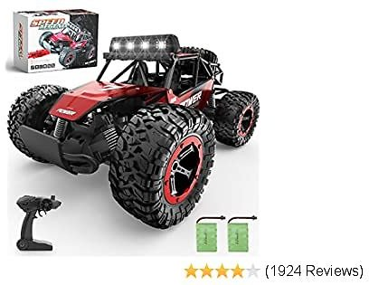 Control Car, 1:14 Aluminium Alloy Off Road Speed Fast Racing Monster Vehicle Truck Electric Hobby Toy with 2Rechargeable