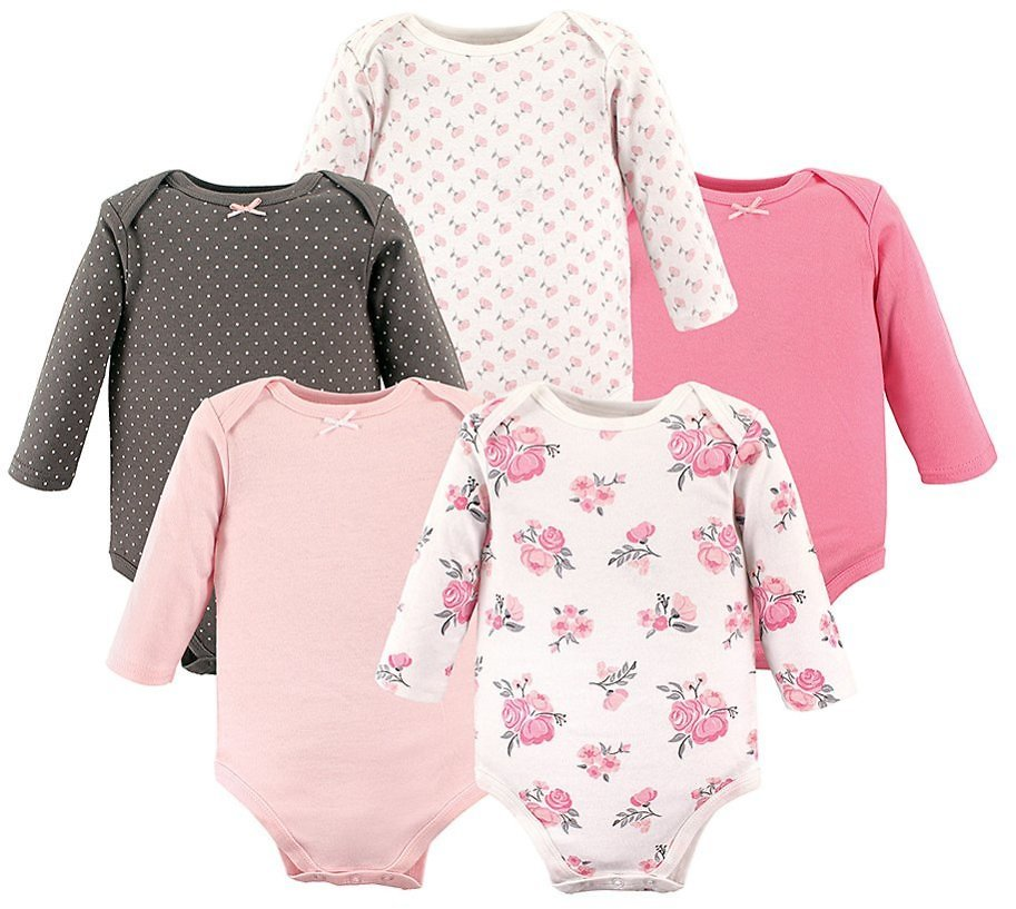 Love This Product Pink Floral Long-Sleeve Bodysuits - Set of Five