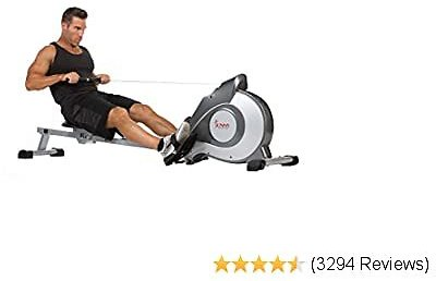 Sunny Health & Fitness SF-RW5515 Magnetic Rowing Machine Rower W/LCD Monitor