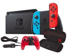 Nintendo Switch with Wireless Controller, Case and Car Charger