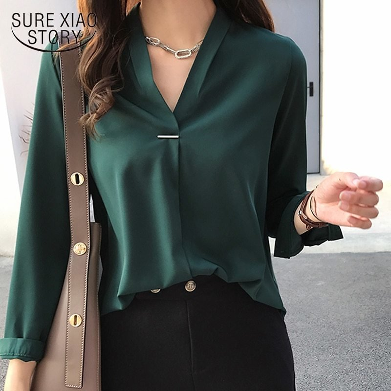 US $12.24 27% OFF|women Chiffon Blouse Shirt Long Sleeve Women Shirts Fashion Womens Tops and Blouses 2020 3XL 4XL Plus Size Women Tops 1681 50|Blouses & Shirts| - AliExpress