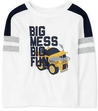 Baby And Toddler Boys Long Sleeve Graphic Striped Arm Top