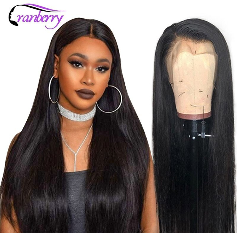 Straight Lace Front Human Hair Wigs Pre Plucked Hairline 13X4 Lace Front Wig 360 Lace Frontal Wig Brazilian Remy Wigs