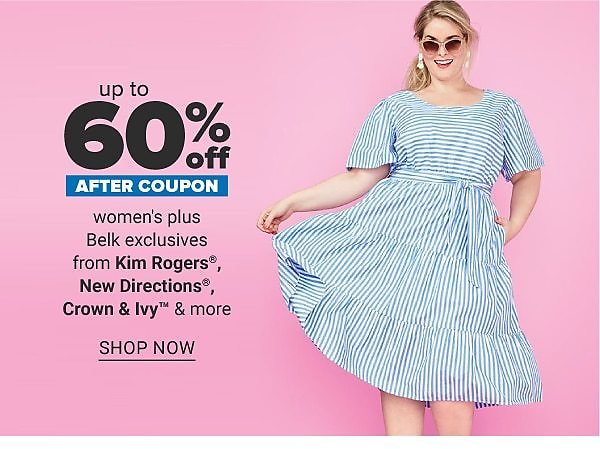 Save Up To 60% Off Womens' Plus Size Clothing