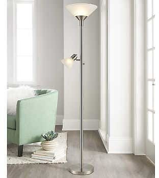 Torchiere Floor Lamp with Reading Light + Free Ship