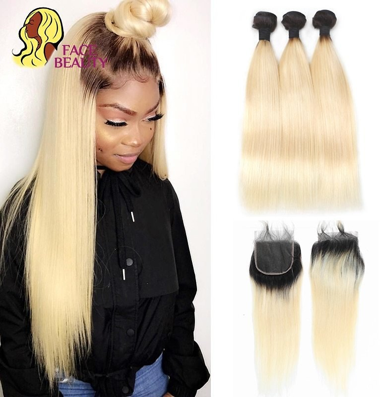 US $63.1 43% OFF|Facebeauty 1B/613 Honey Blonde Brazilian Straight Remy Human Hair 3 Bundles with Lace Closure,Blonde Ombre Bundles with Closure|bundles with Closure|bundles with Lace Closurehair 3 Bundles - AliExpress