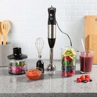 Immersion Blender 4-in-1 6-Speed Hand Mixer By Classic Cuisine