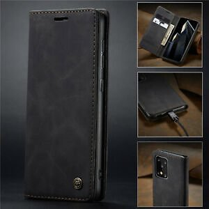For Samsung Galaxy A51 A71 Magnetic Genuine Leather Wallet Card Flip Case Cover