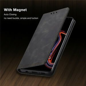 For Samsung Galaxy Note 10 Plus 9 8 Case Magnetic Flip Wallet Leather Cover