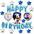16PCS Sonic The Hedgehog Balloons Birthday Party Decorations