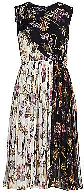 Jason Wu Collection - Floral Crinkle Silk Chiffon Midi Dress