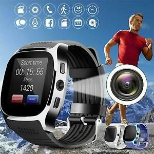 T8 Bluetooth Smart Watch With Camera Support SIM TF Card Pedometer Men Women Cal