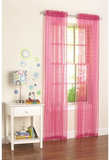 Your Zone Single Curtain Panel with Sequins 50