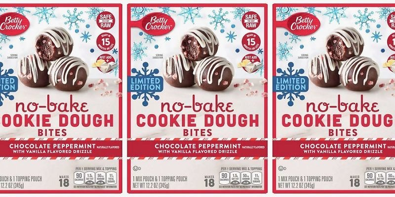 Betty Crocker Is Releasing No-Bake Chocolate Peppermint Cookie Dough Bites For The Holidays