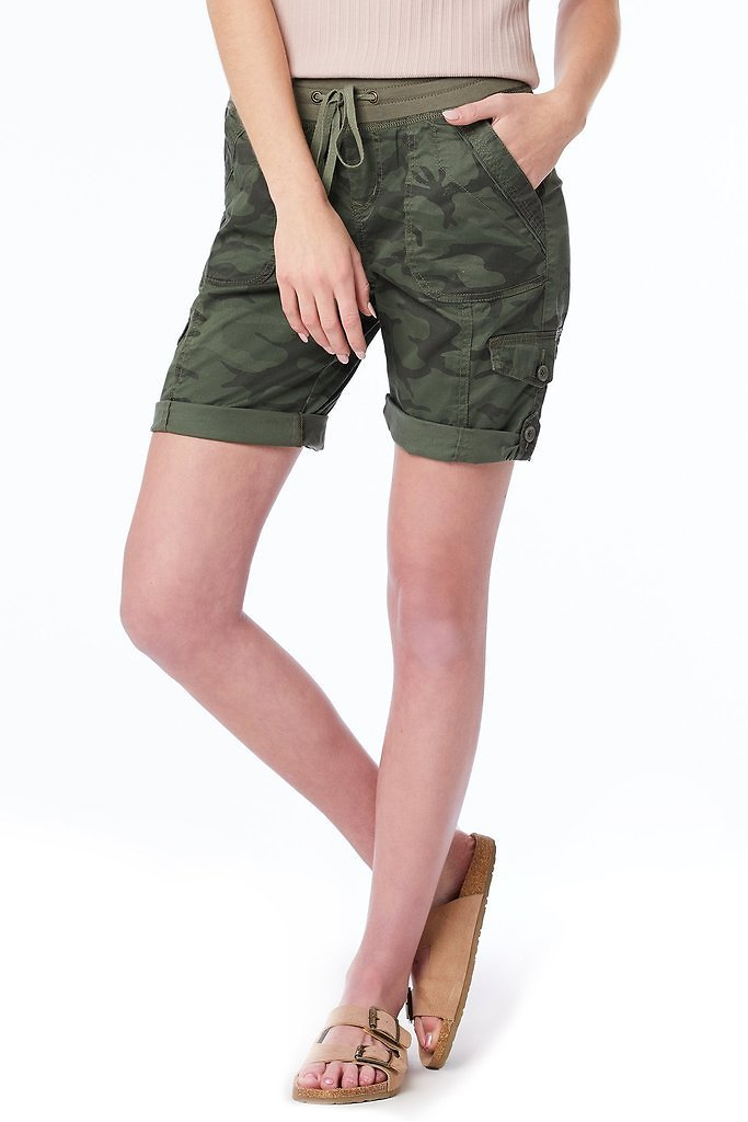 Betsy Camo Convertible Short (Reg and Plus Size)