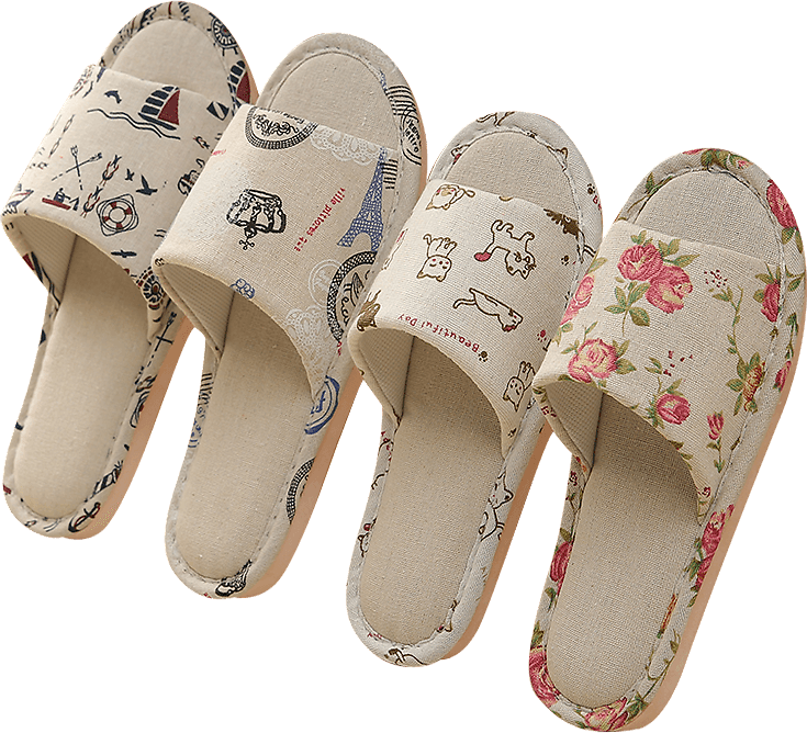 US $2.96 27% OFF|Women Casual Floral Indoor Home Slippers Flower Soft Slippers Spring Autumn Flip Flops Female Linen Slides Slippers|Slippers| - AliExpress