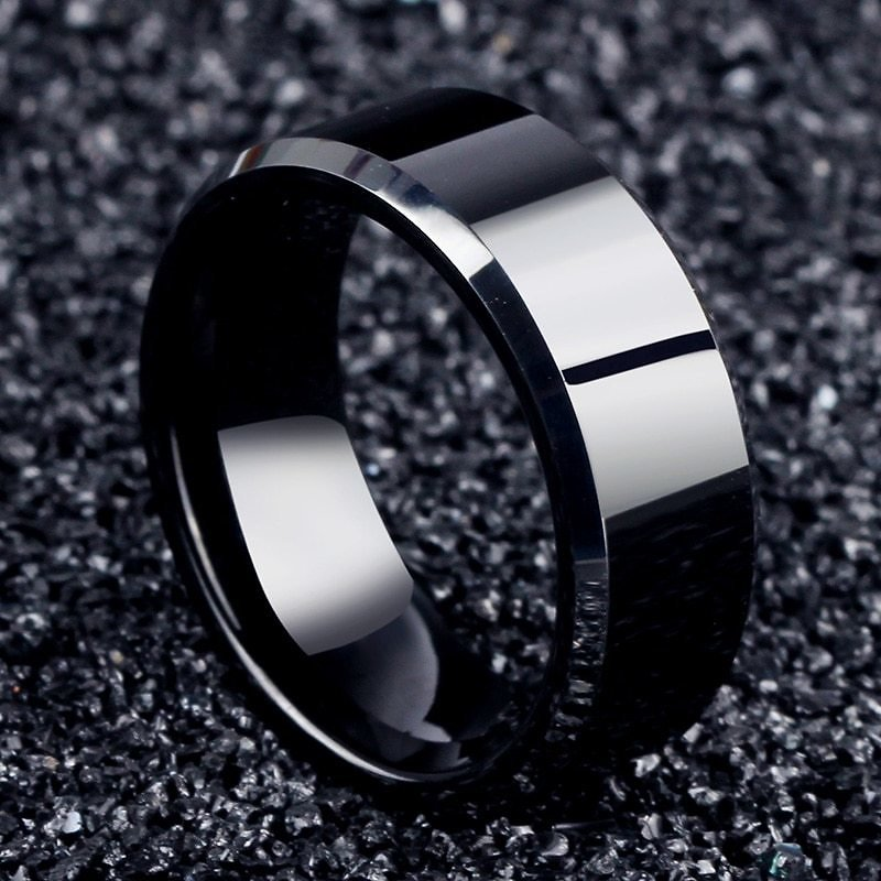 US $0.61 49% OFF|2017 Fashion Charm Jewelry Ring Men Stainless Steel Black Rings For Women|rings for Women|ring Forring Ring - AliExpress